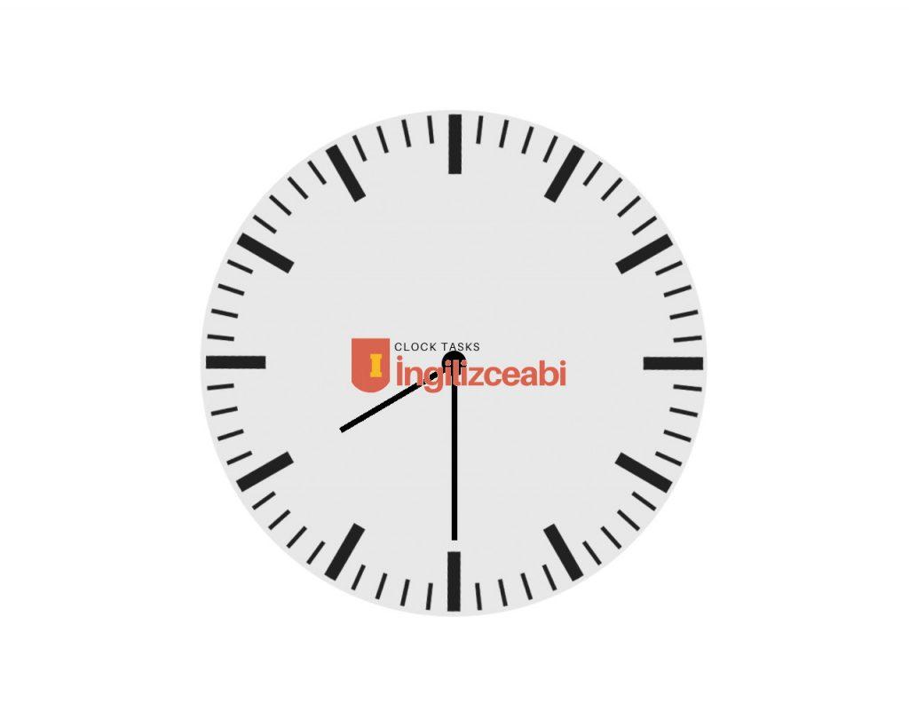8.30 - İngilizce Saatler