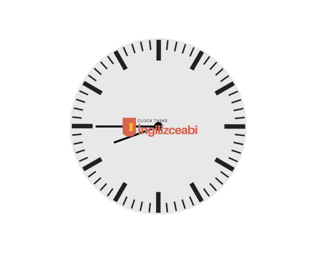 8.45 - İngilizce Saatler