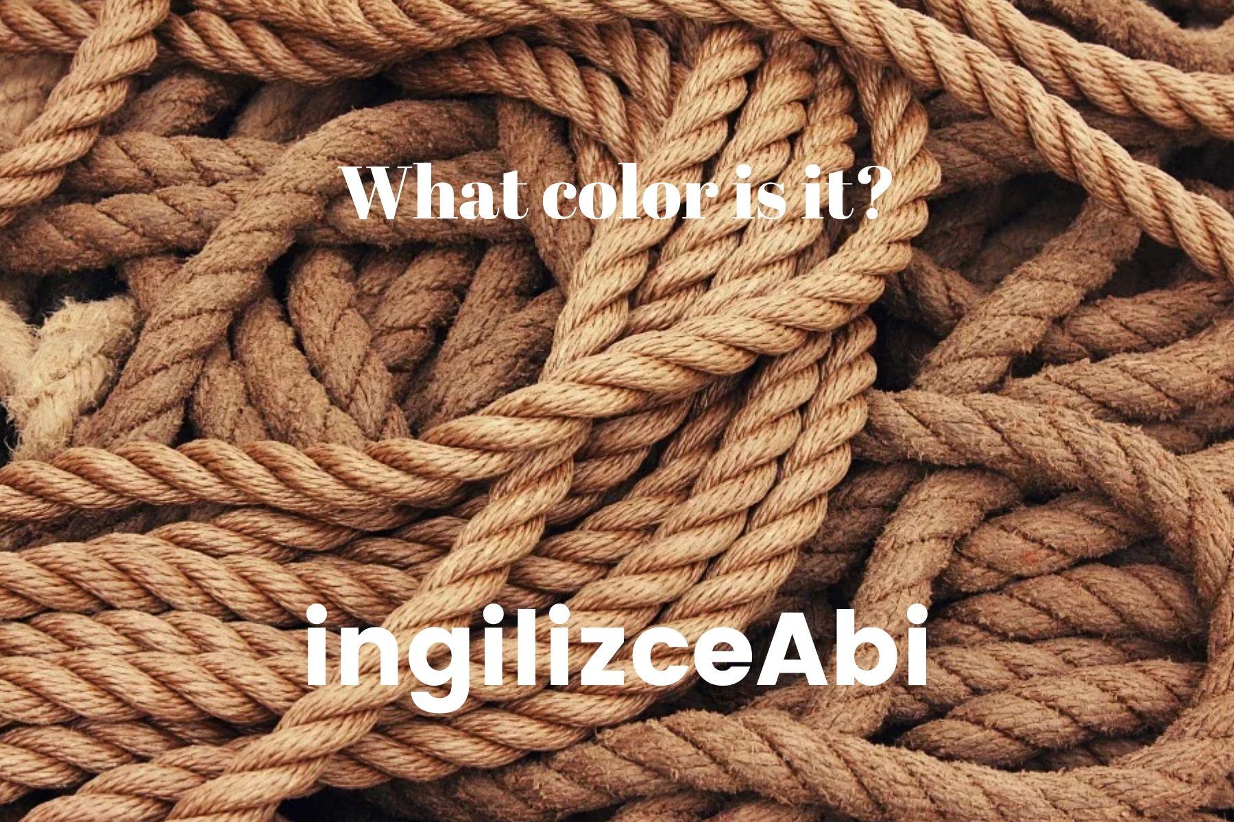 Beige Color - - ingilizce renkler - ingilizceabi