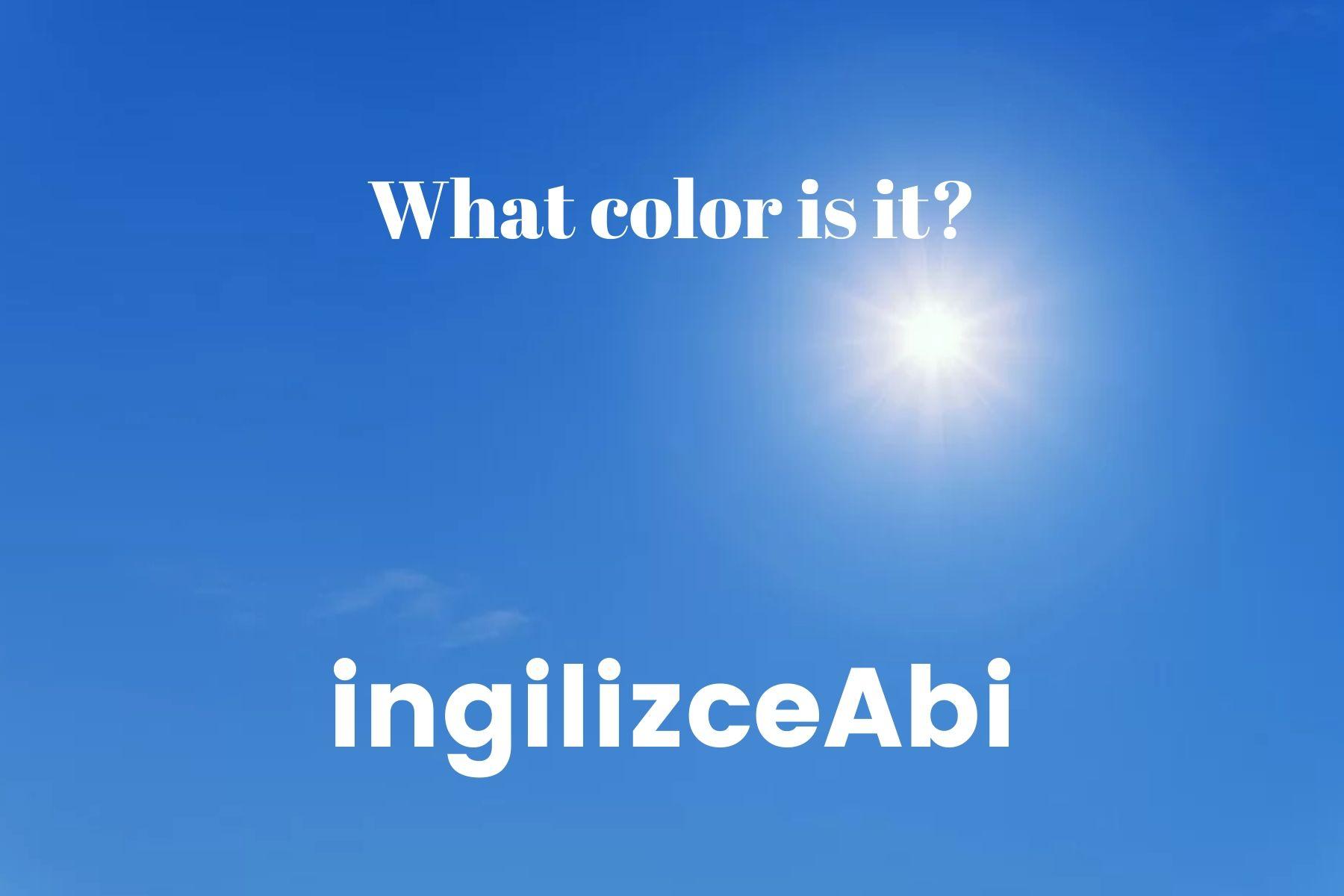 Blue Color - - ingilizce renkler - ingilizceabi