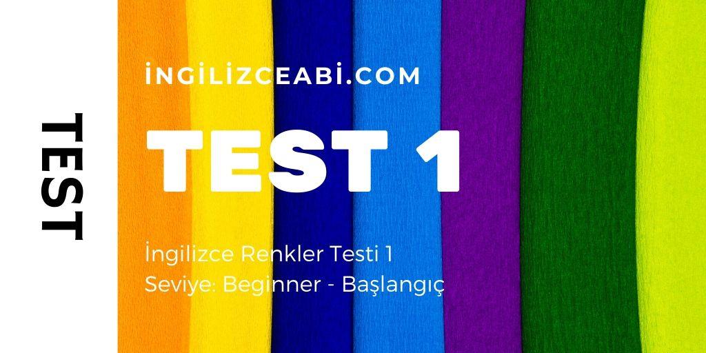 İngilizce Renkler Testi Başlangıç Seviyesi
