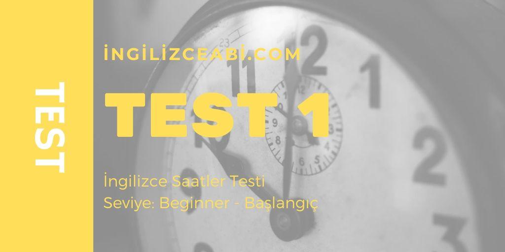 İngilizce Saatler Testi