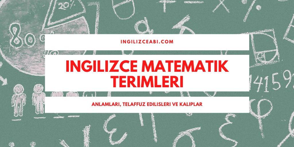 Matematik Terimleri İngilizce