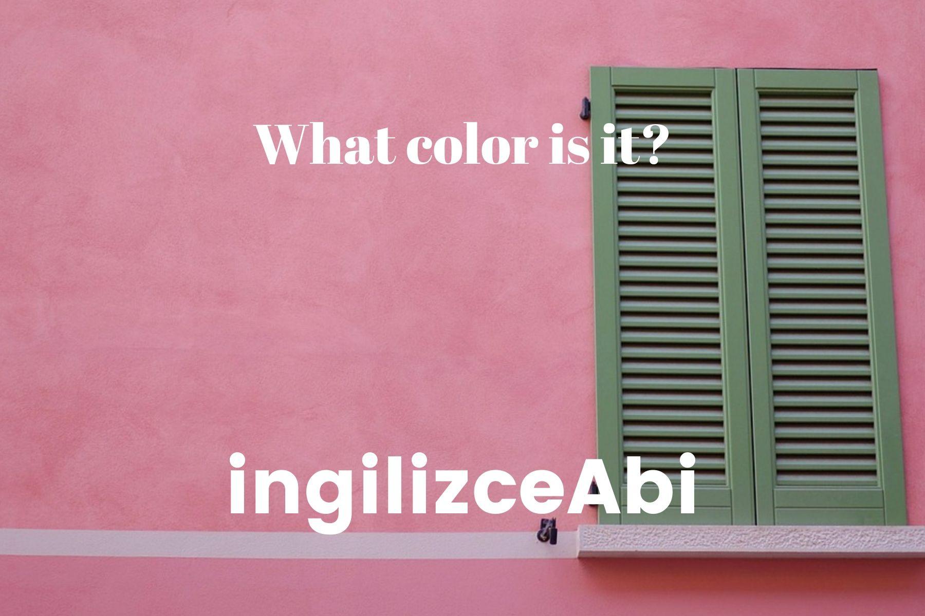 Pink Color - ingilizce renkler - ingilizceabi