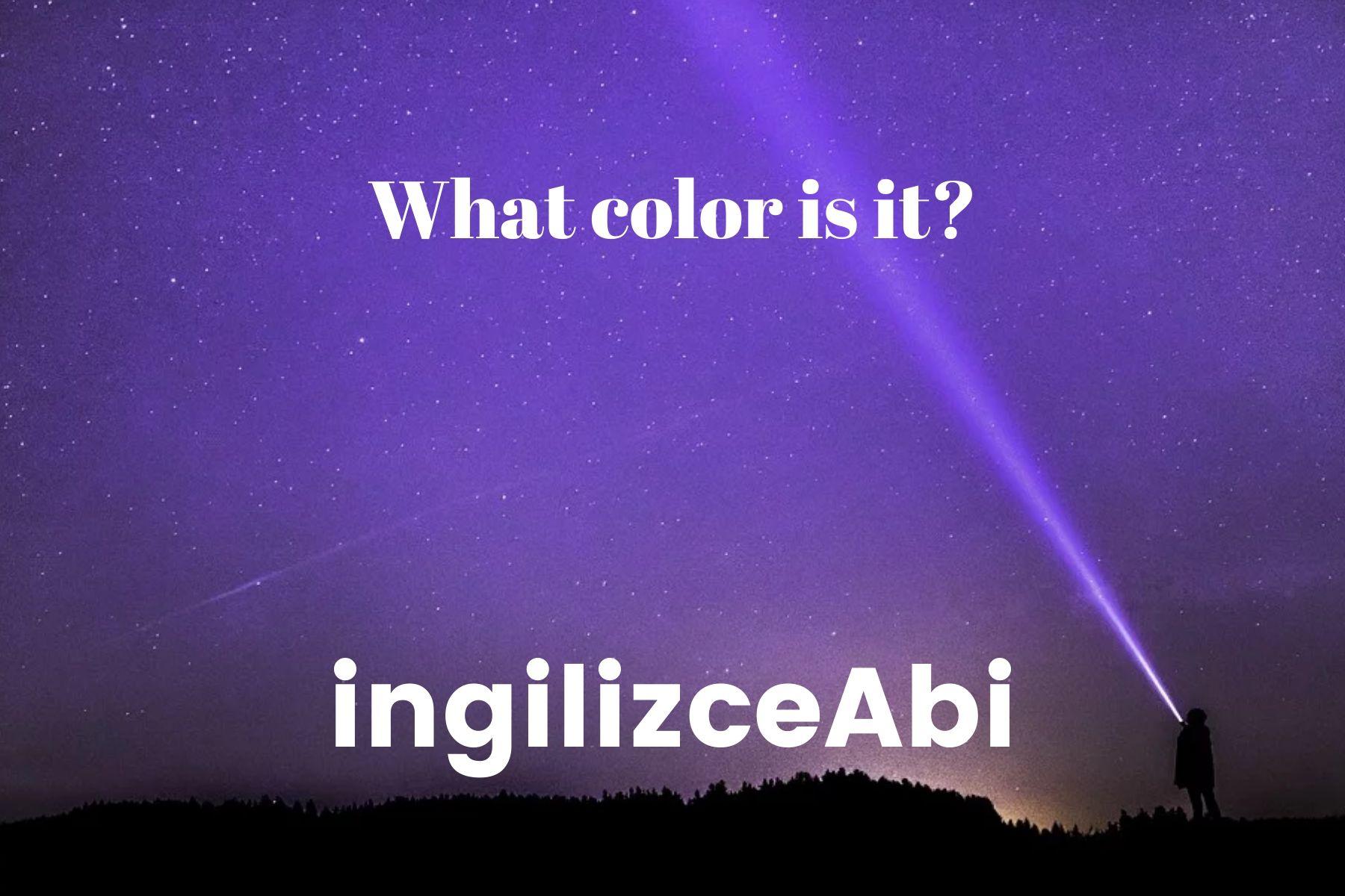Purple Color - ingilizce renkler - ingilizceabi