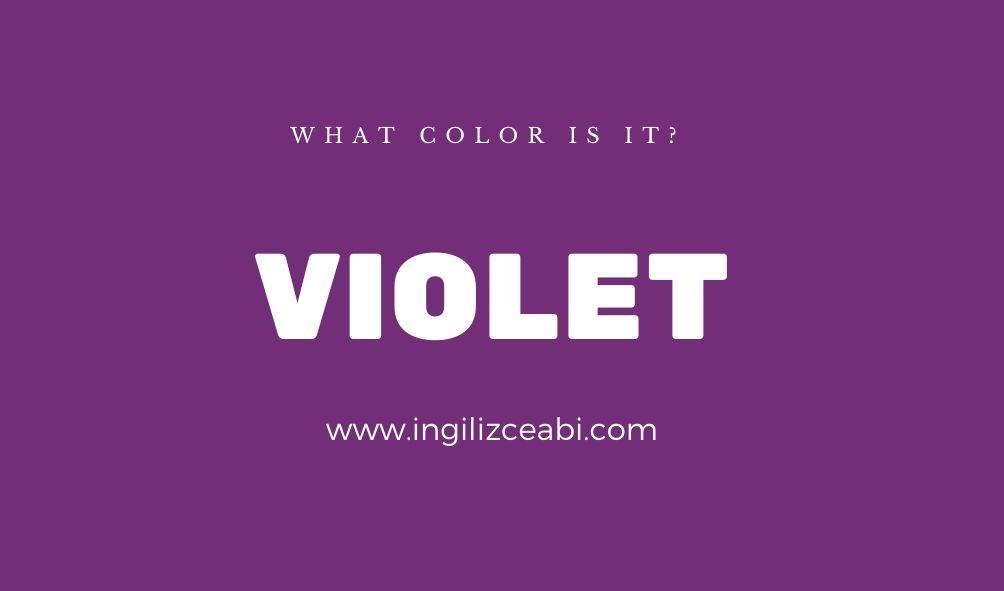 This is violet. - ingilizce renkler