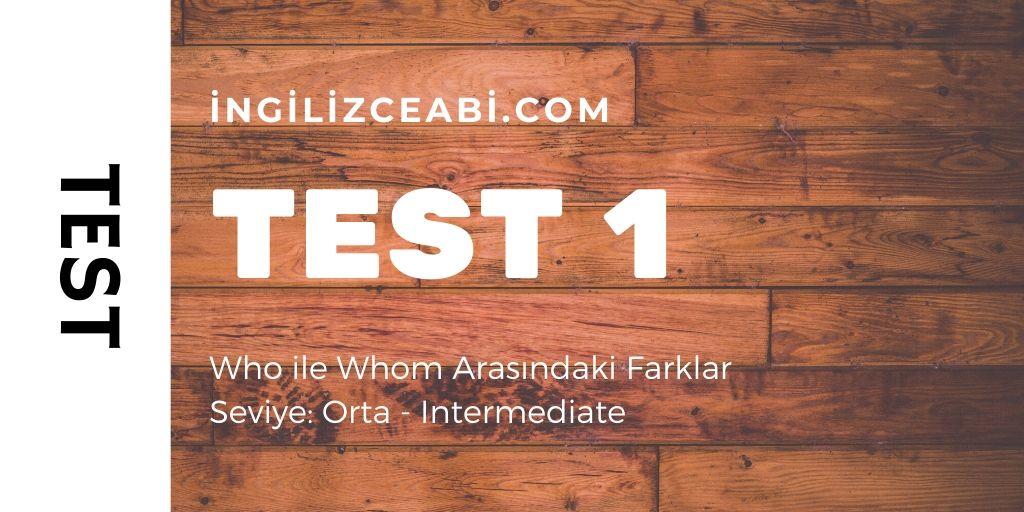Who ile Whom Arasındaki Farklar - 10 Soruluk Test